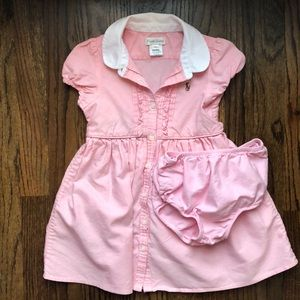 Ralph Lauren toddler pink dress and bloomers 24m